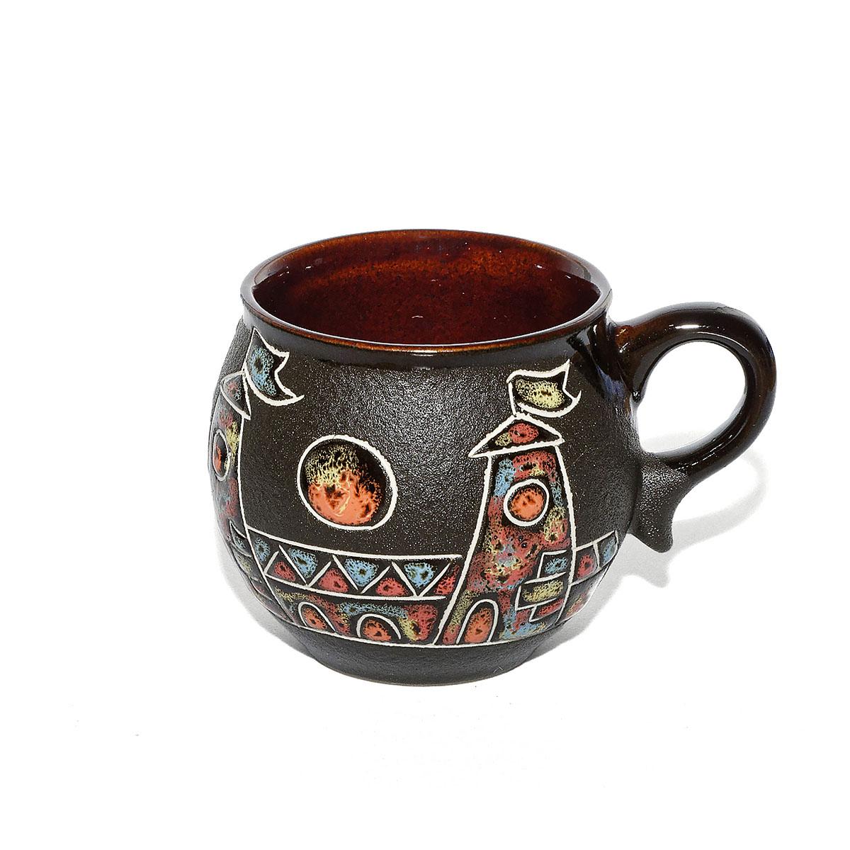 "Чашка глиняная ""Город"", 200 мл"