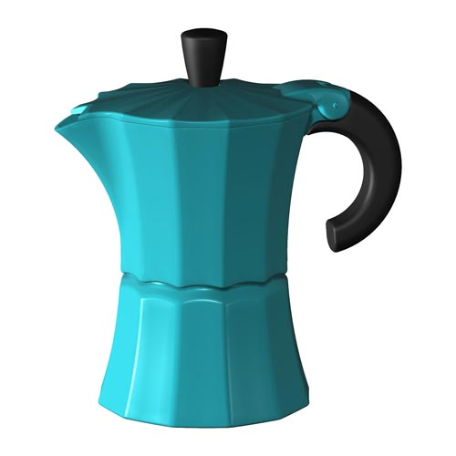 Гейзерная кофеварка Morosina (на 3 чашки), синяя от 101 Чай