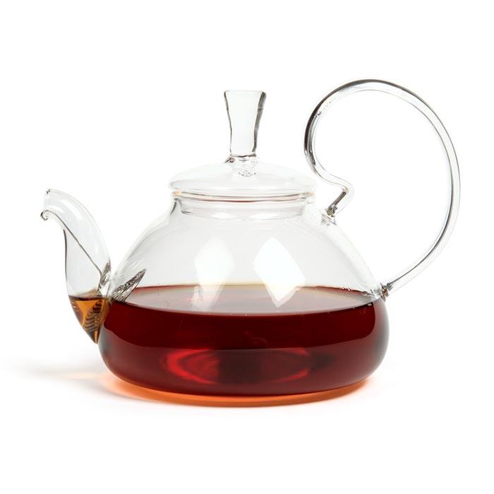 Стеклянный заварочный чайник Клюква, 1200 мл