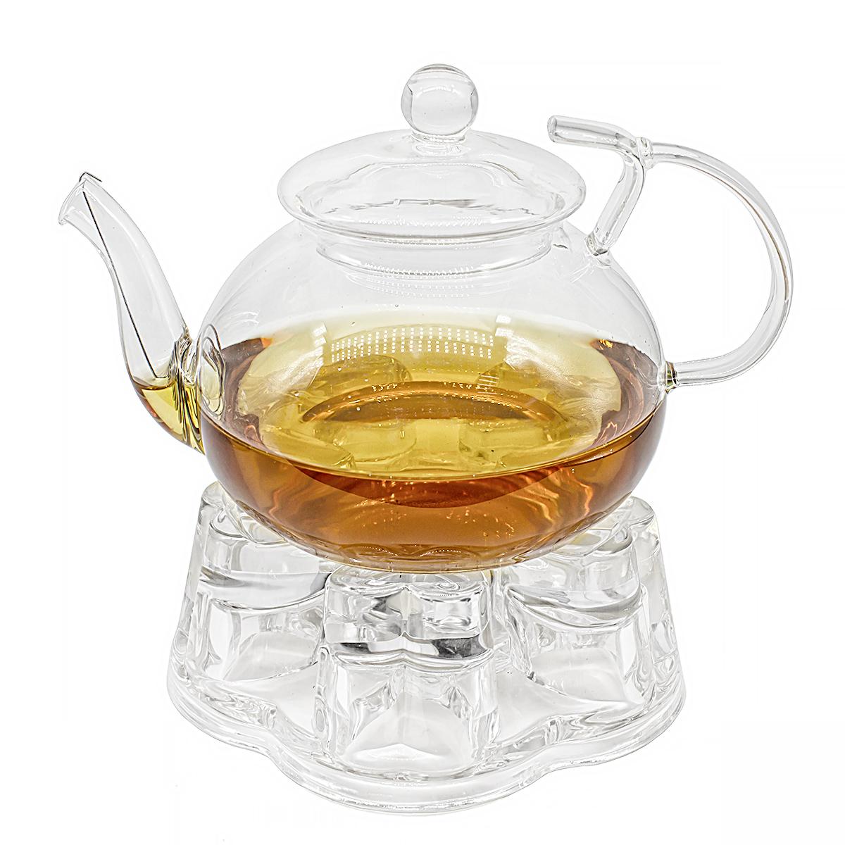 Фото - Набор: заварочный чайник Примула 700 мл и подставка-подогреватель Агава подставка
