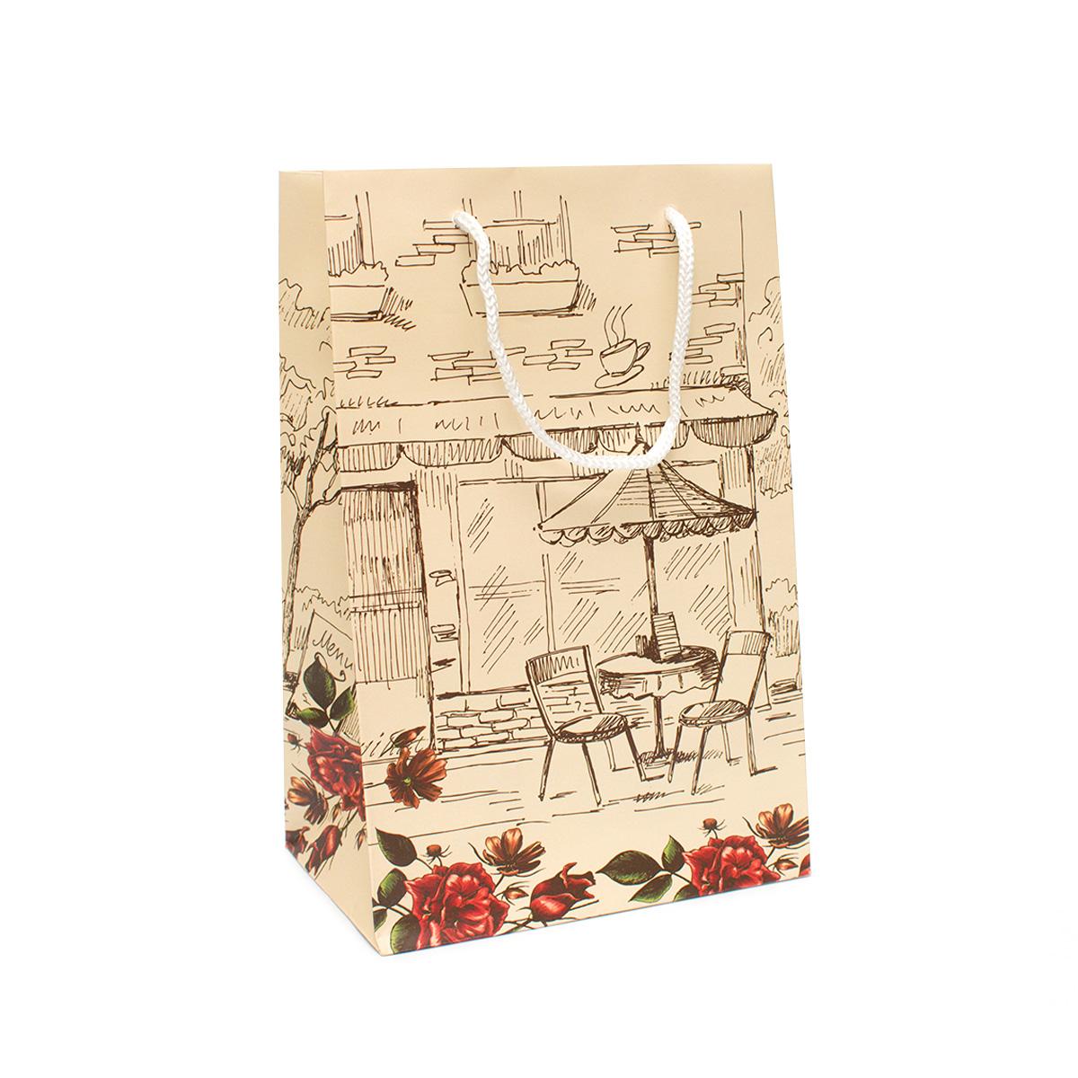 Фото - Пакет подарочный Кафе, 23*15 см пакет подарочный новогодние игрушки 23 15 см