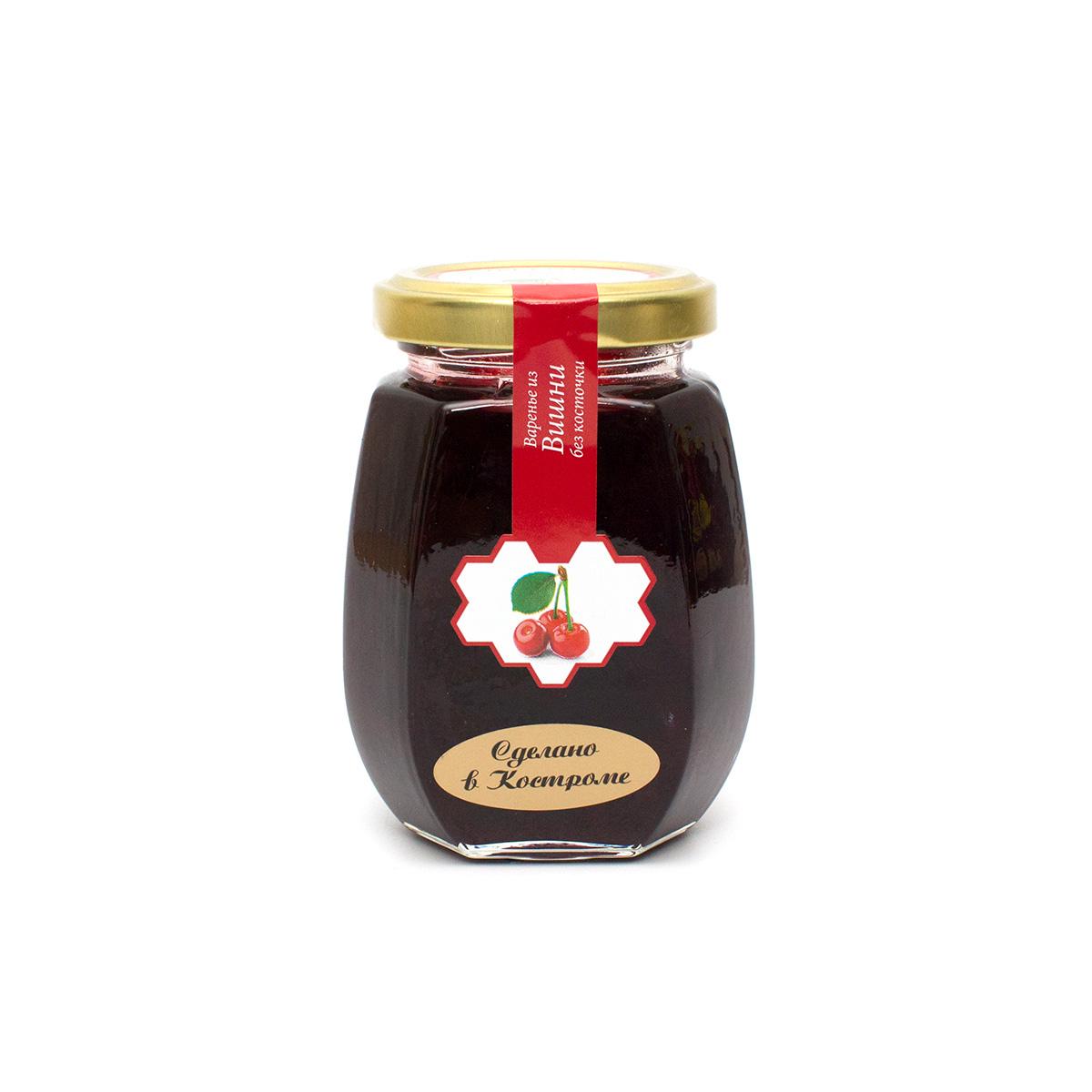 Варенье из вишни, 220 гВаренье и джемы<br>Состав: вишня, сахар-песок, вода.<br>