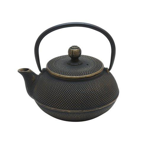 """Чугунный чайник """"Золотистая черепаха"""", 600 мл"""