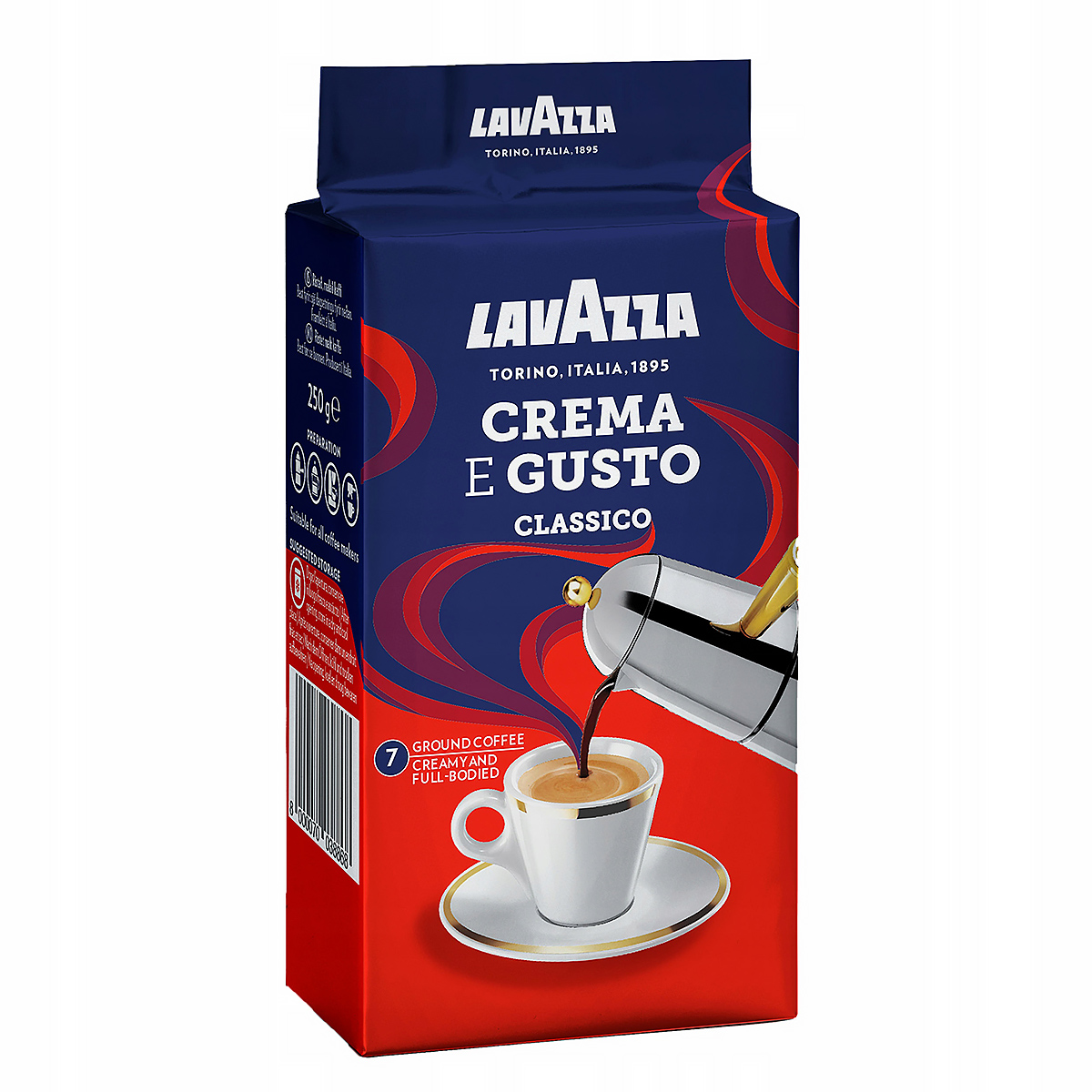 Кофе молотый Lavazza Crema e Gusto в вакуум. упаковке, 250 г