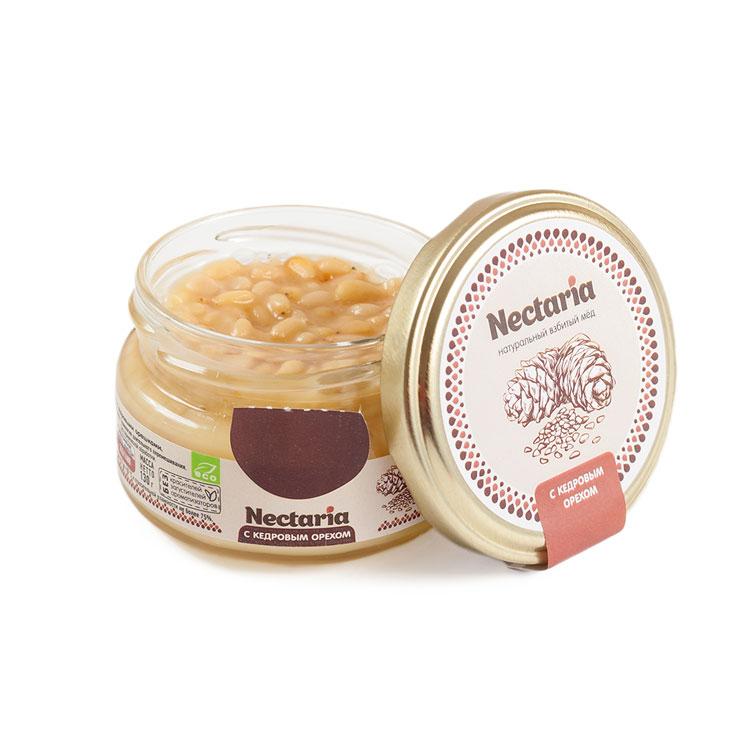 Крем-мёд Nectaria с кедровым орехом, 100 г от 101 Чай