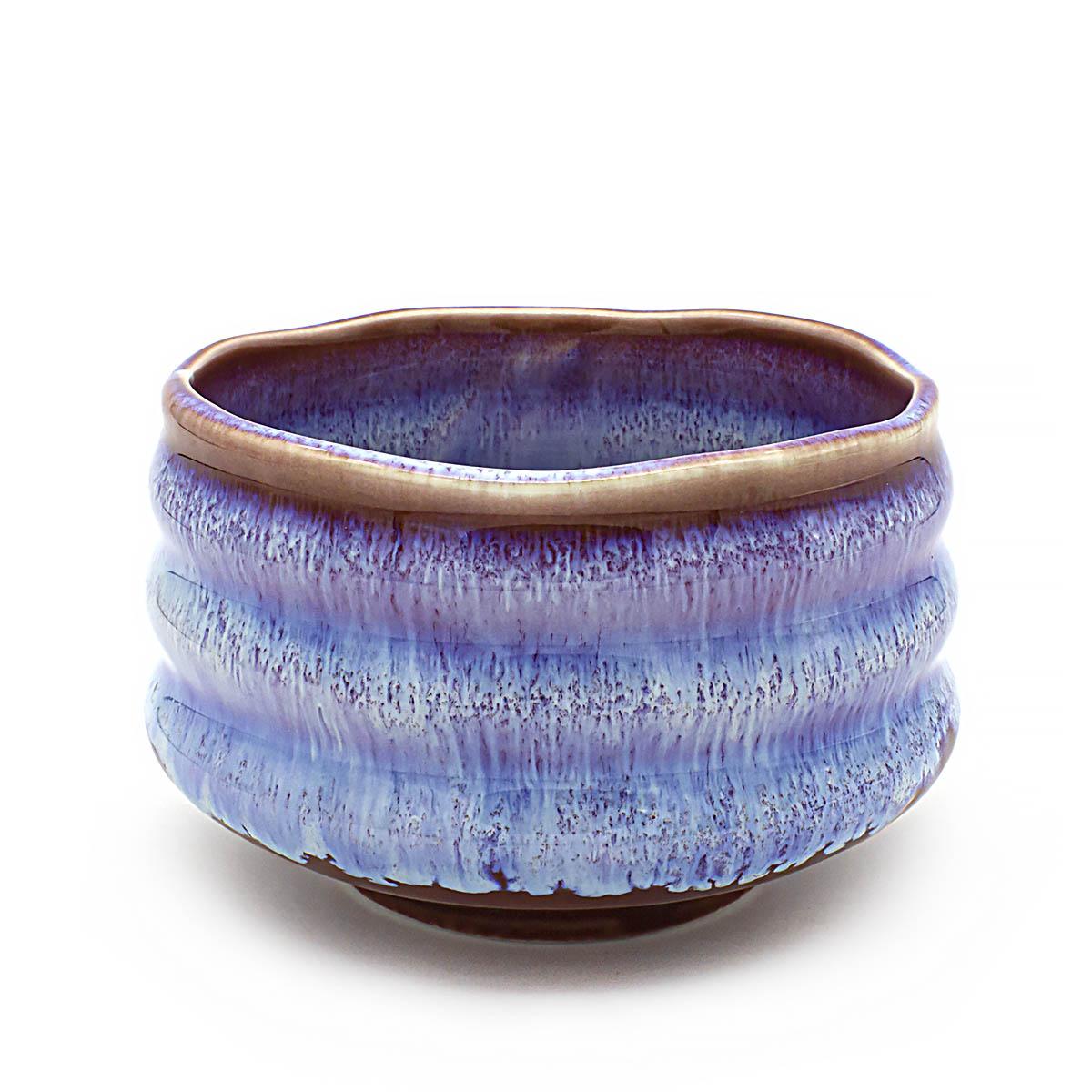 Чаша для матча керамическая, голубая, 500 мл