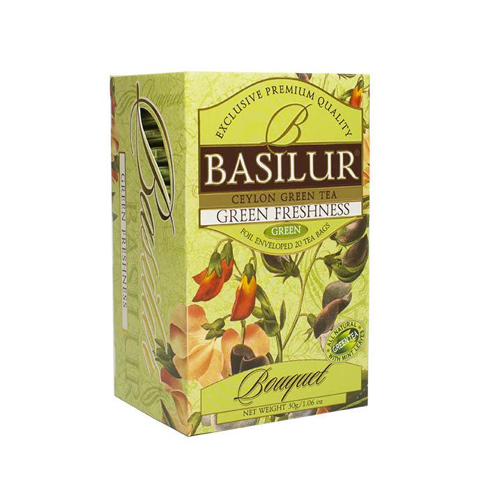 "Зеленый чай Basilur Букет ""Зеленая свежесть"", 20 пак х 1,5 г от 101 Чай"
