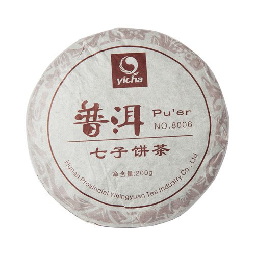 Шу Пуэр, 8006, фабрика Хуннань Ти Компани, 2008 г., блин 200 гр.Пуэр<br>Шу Пуэр 2008 года. Аромат заваренного чая - сладко-древесный. Вкус насыщенный, чистый со сбалансированным букетом оттенков: от чуть молочных н...<br>