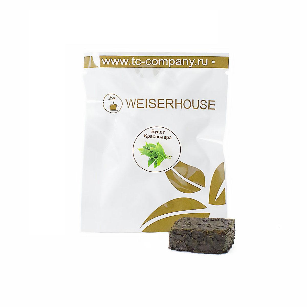 Чай черный Букет Краснодара, прессованный в кубиках (5-7 гр.) в инд. упак.
