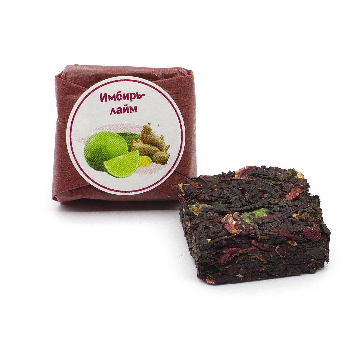 Чай фруктовый Имбирь-лайм, кубик 5-7 г