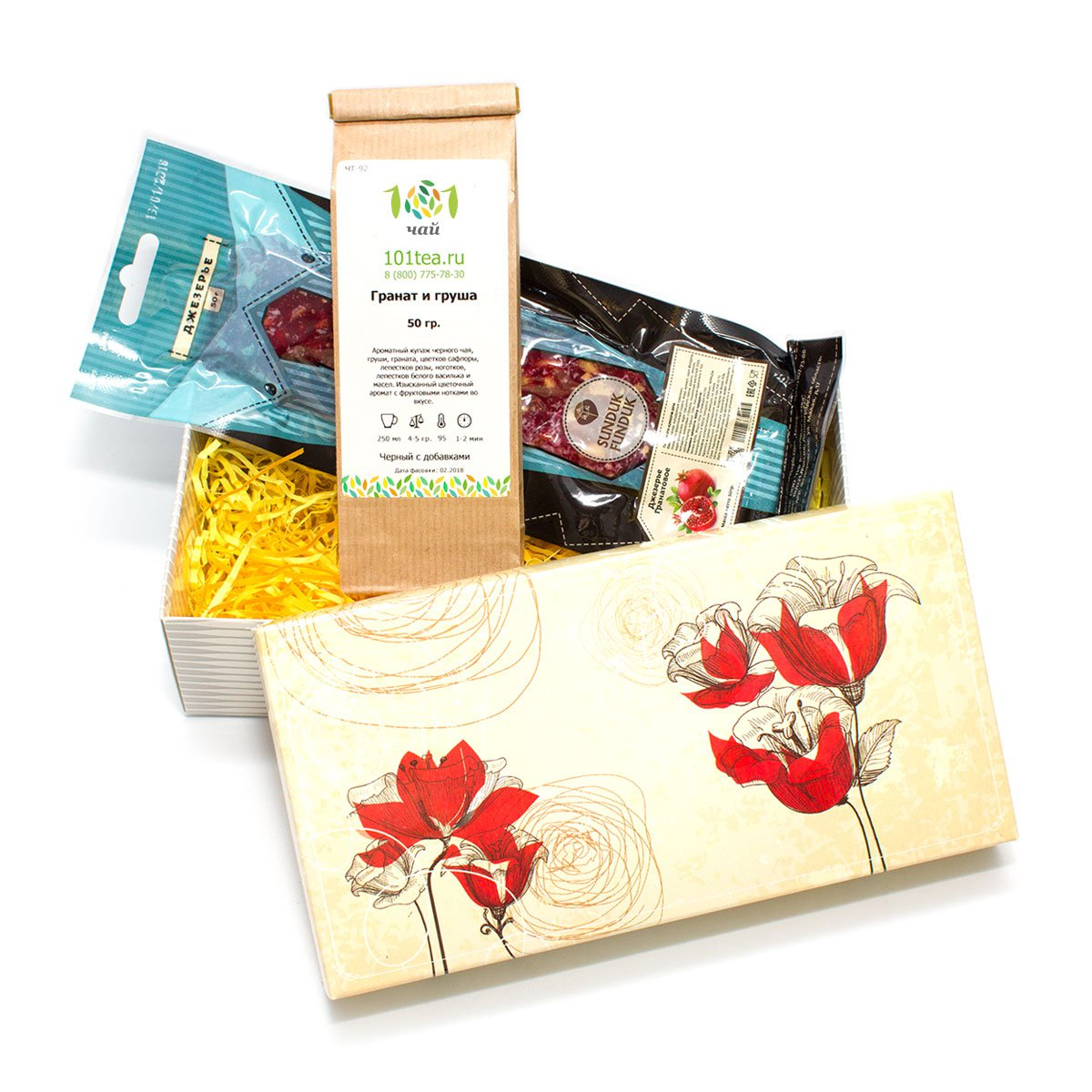 """Подарочный набор чая """"Гранатовый браслет"""" от 101 Чай"""