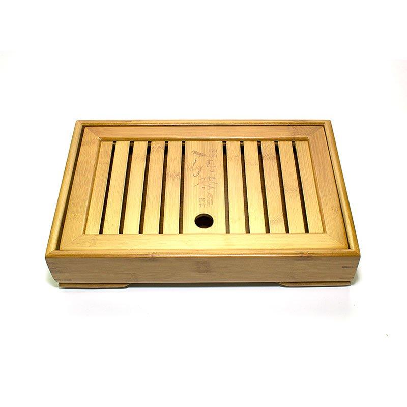 Чайный поднос (Чабань) бамбуковый 34,5х22,5х6 см