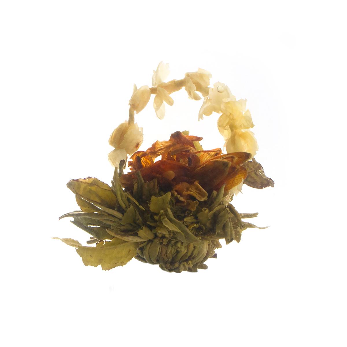 Связанный чай Бай Хуа Сян Цзы (Лунный сад, аромат жасмина) в инд. упаковке