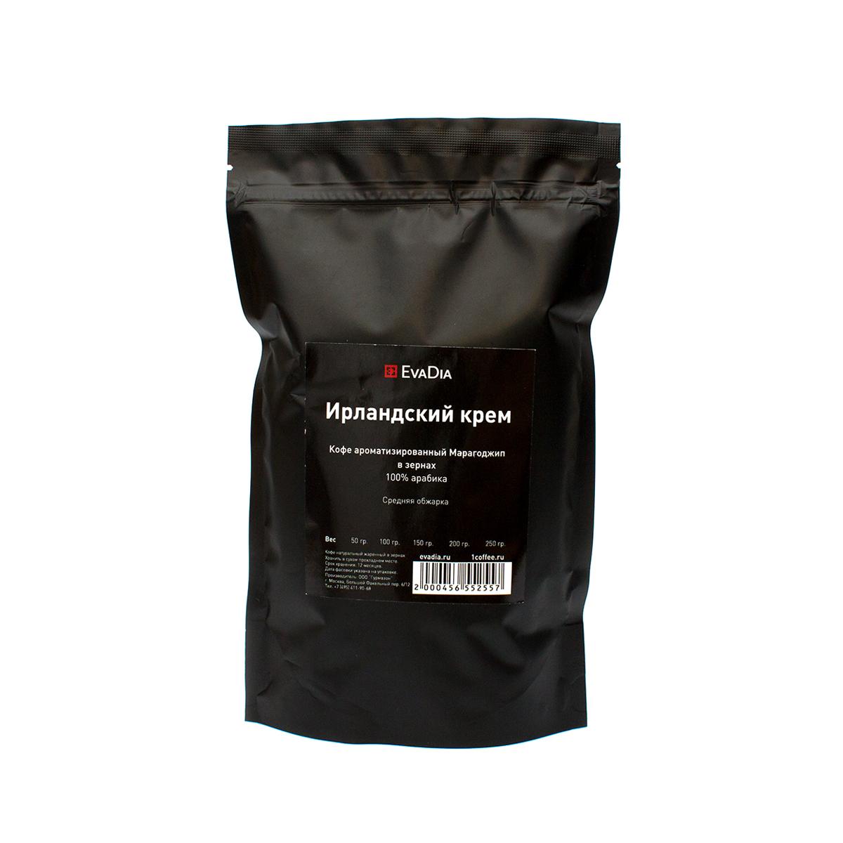 Кофе в зернах ароматизированный Марагоджип EvaDia