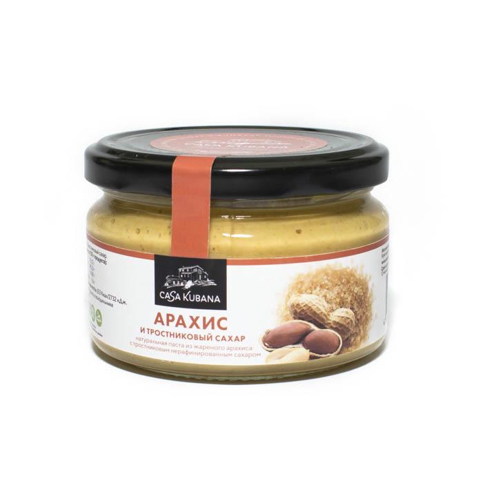 Паста из жареного арахиса с тростниковым нерафинированным сахаром, 200 г