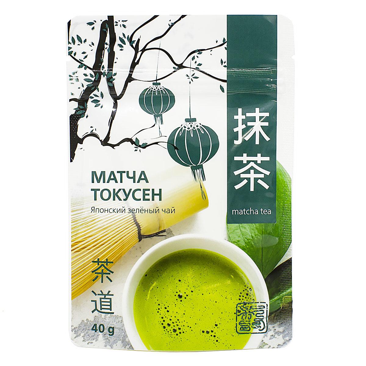 Фото - Чай зеленый Матча токусен, 40 г выпивать и закусывать