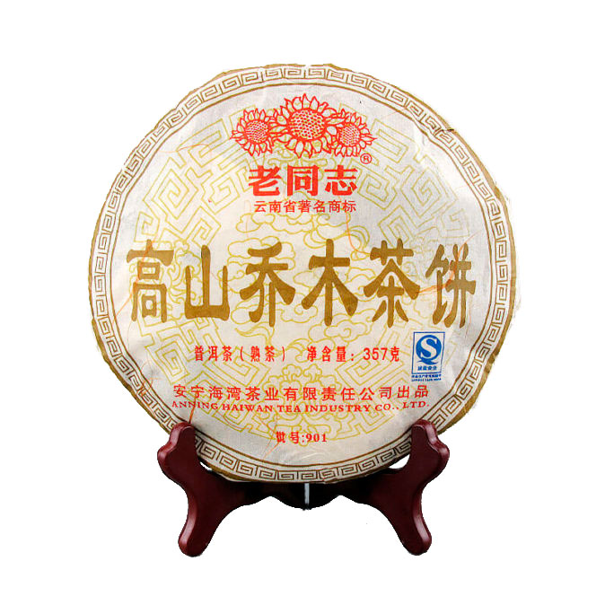"Купить со скидкой Шу Пуэр Лао Тун Чжи ""Гао Шань Цяо Му"" (2009), 357г"