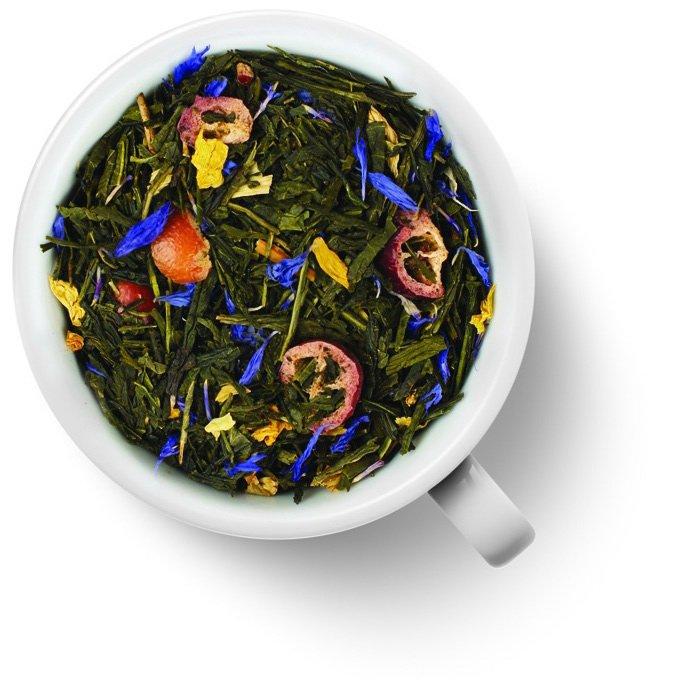 Зеленый ароматизированный чай c клюквой