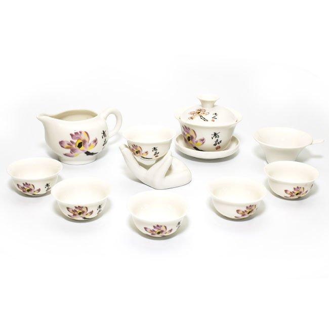 """Чайный набор """"Весенний цветок"""" (фарфор) (10 предметов) от 101 Чай"""