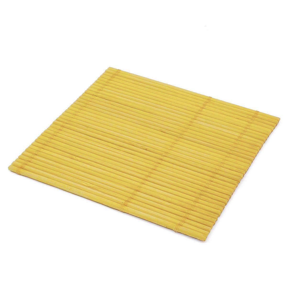 Набор чайных циновок (бамбук) жёлтые №2 10 х 10 см 5 шт/упак.