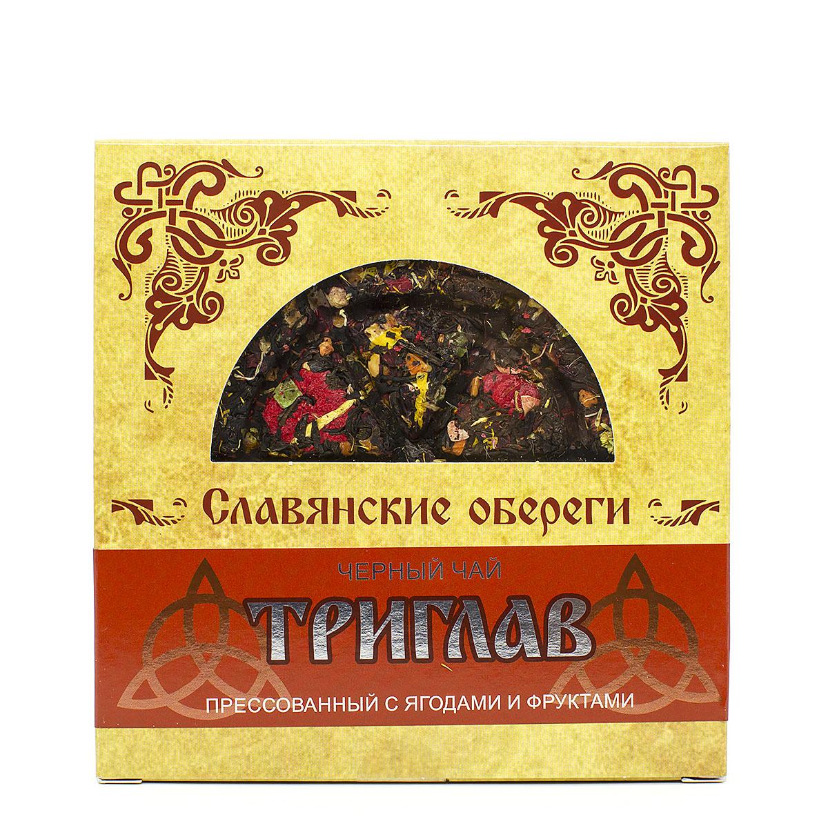 Чай чёрный Триглав, прессованный, блин, 125 г бессмертника песчаного цветки 30 г красногорск