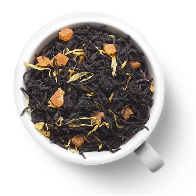 Черный ароматизированный чай Сочный персик
