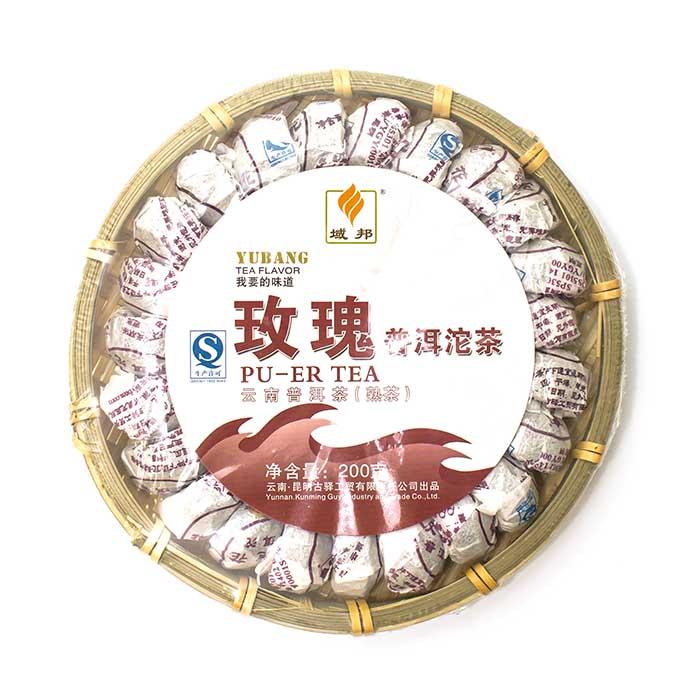 Пуэр Юбанг Тоу Ча в корзине с розой 200 гр.