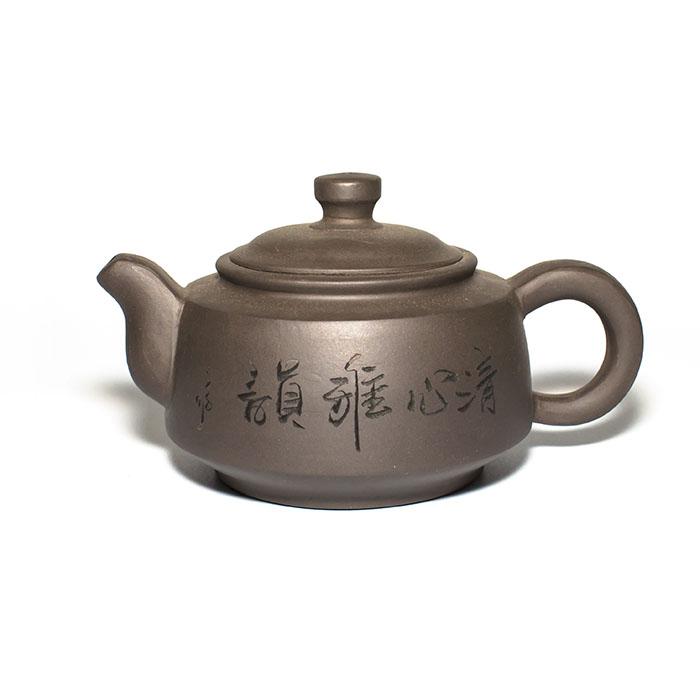 Глиняный чайник Дао, 350 млГлиняные чайники<br>Глиняный чайник классической формы.<br> D горлышка: 6,5 см.<br> D широкой части: 11 см.<br> D дна: 8 см.<br> Высота: 8,5 см.<br>