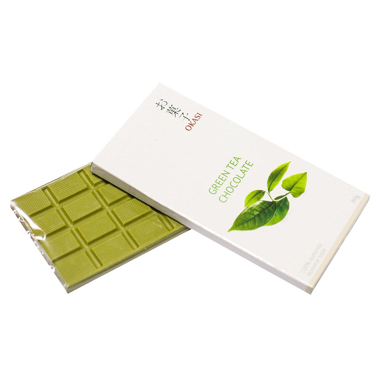 Шоколад Okasi с чаем матча, плитка, 80 г чоп raho белый бамбук часенов матча венчиком