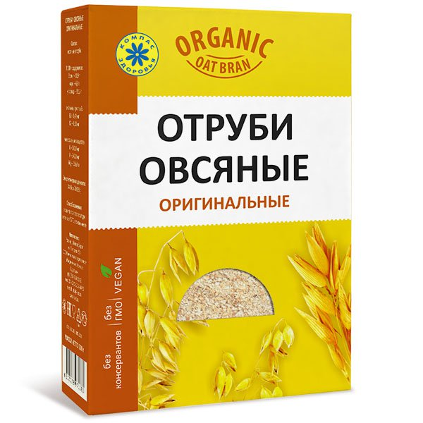 """Отруби овсяные оригинальные """"Компас Здоровья"""", 200 г от 101 Чай"""