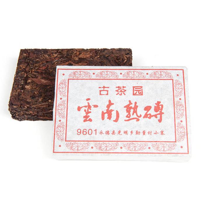 Шу Пуэр Юньнань Шу Чжуань, 9601, кирпич, 100 г