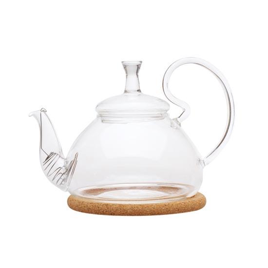 Стеклянный заварочный чайник Георгин средний, 600 мл