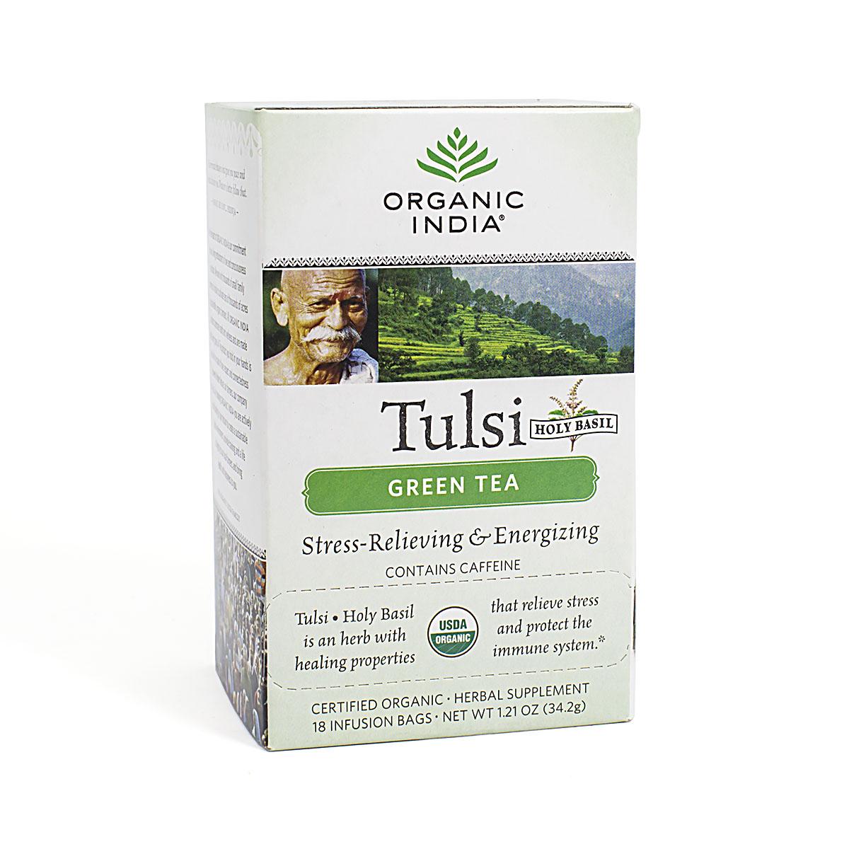 Напиток Базиликовый с зеленым чаем Tulsi Green, 18 пакетиков