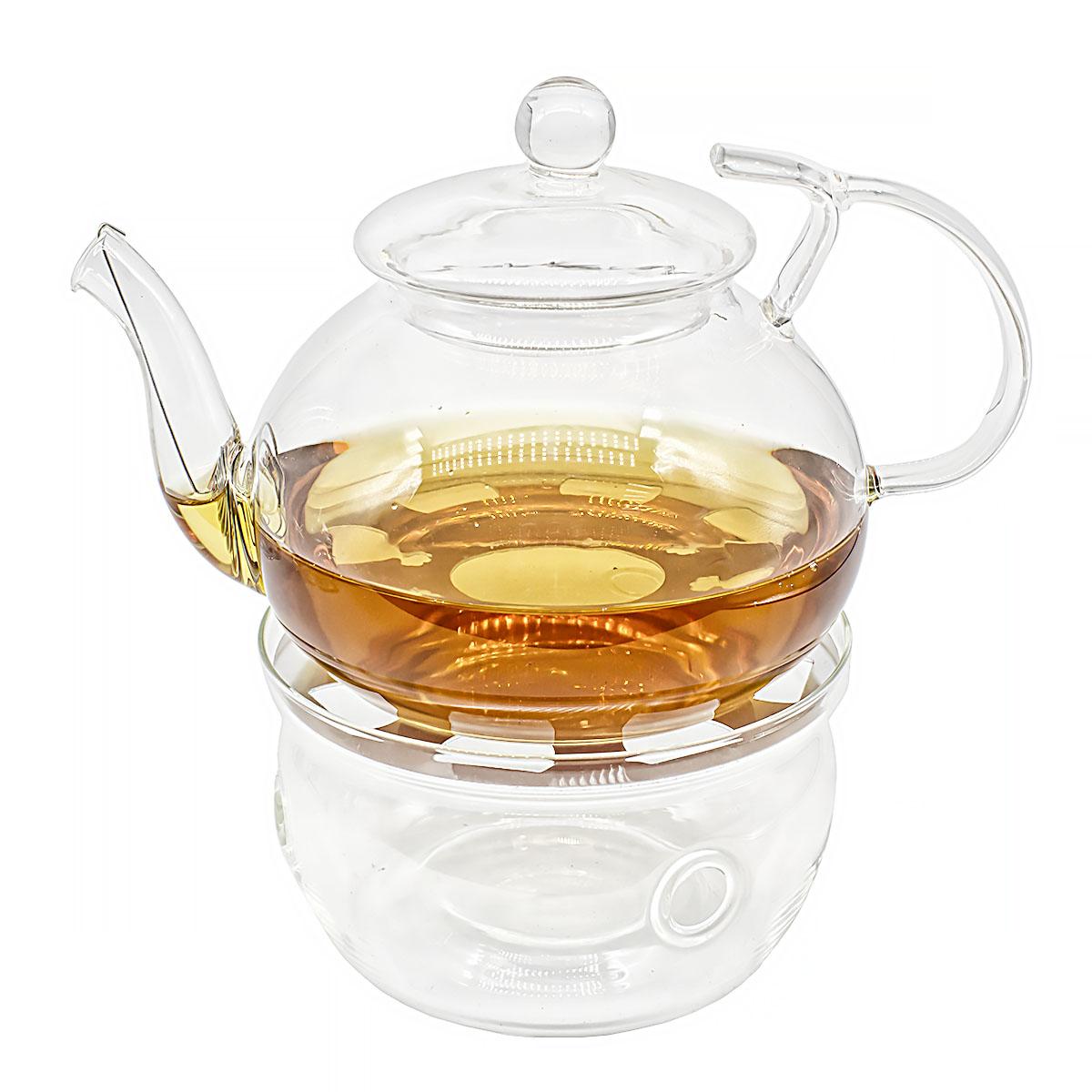 Фото - Набор: заварочный чайник Примула 700 мл и подставка-подогреватель Тама подставка