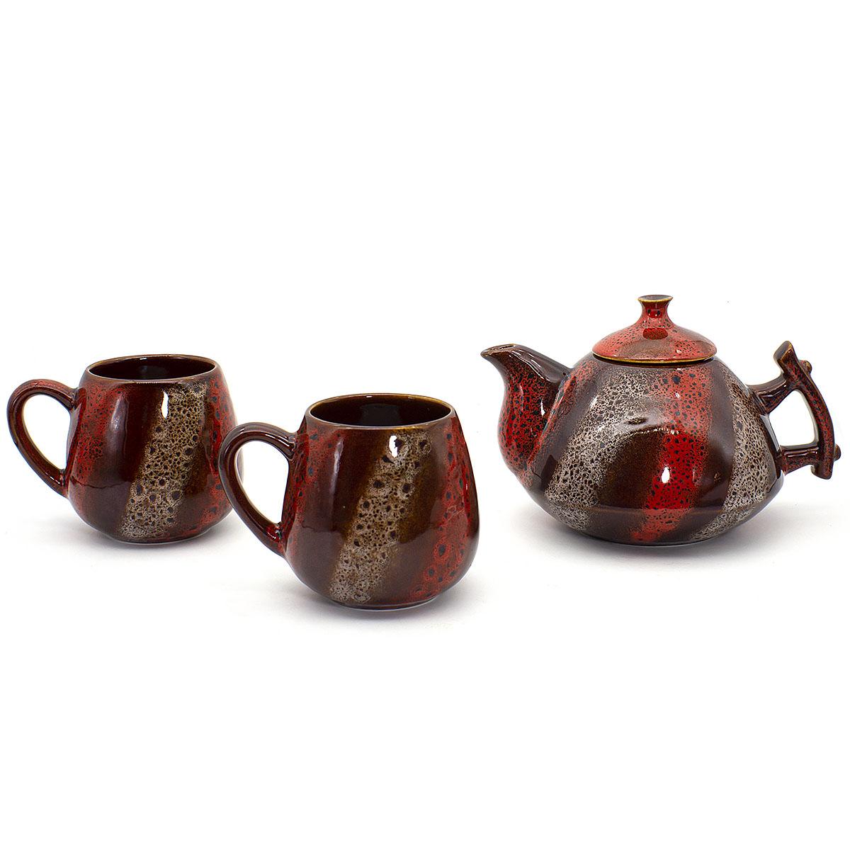 Набор Малиновый щербет: 2 чашки 350 мл и чайник 800 мл