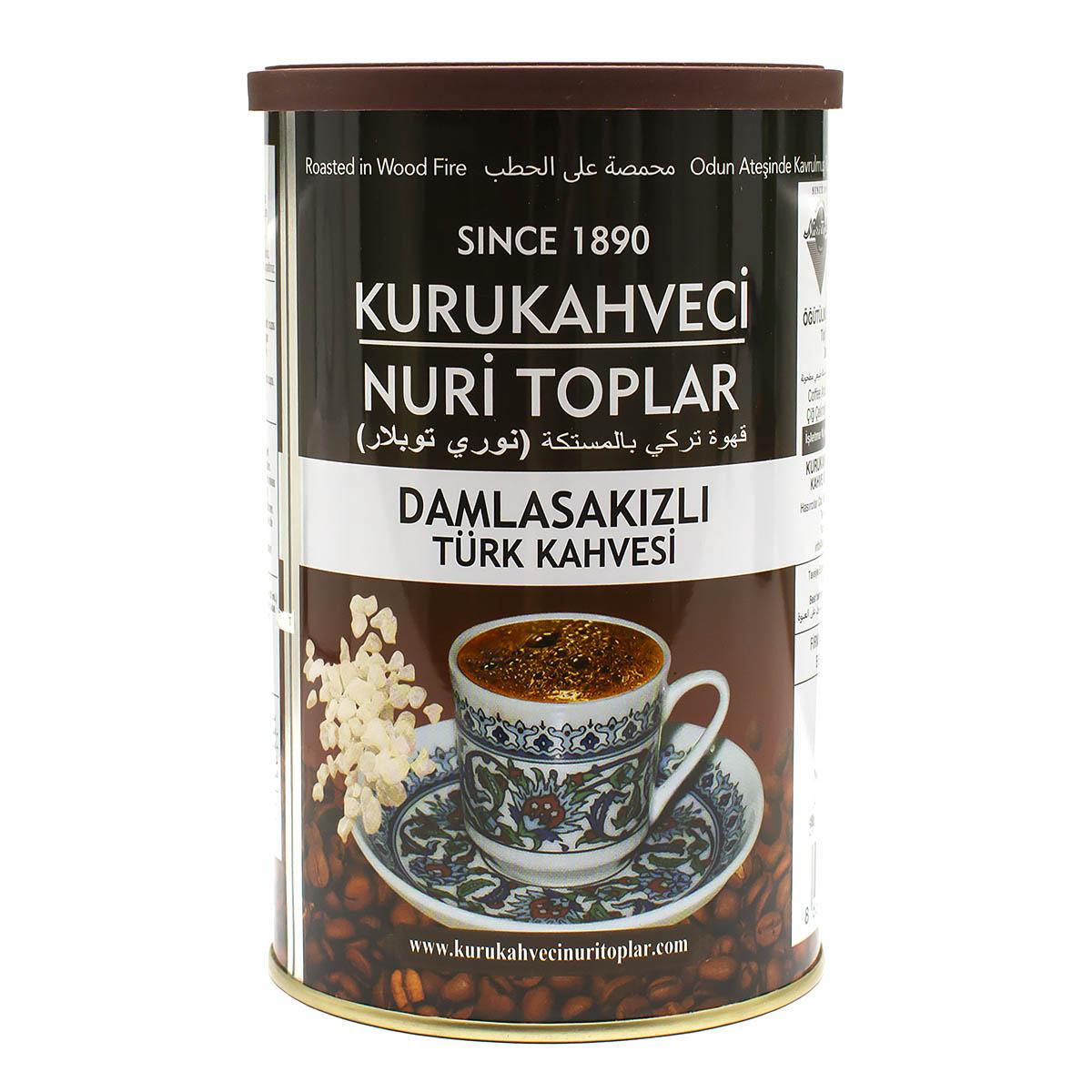 Кофе молотый Kurukahveci Nuri Toplar с ароматом жвачки, в банке, 250 г