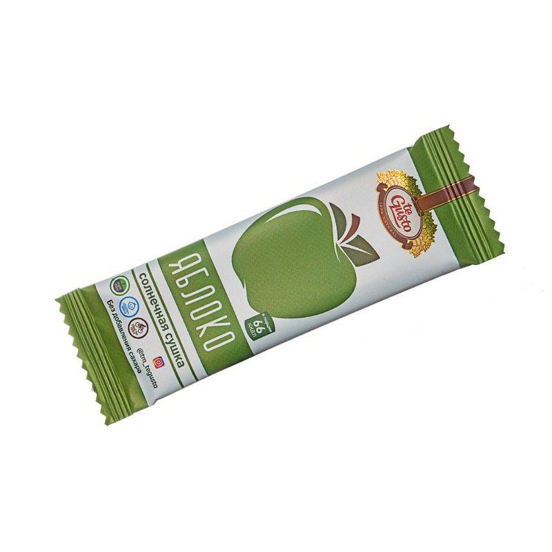 Фруктовый батончик из яблока Te-Gusto, 25 гБатончики<br>Батончик из натурального яблока, без искусственных добавок. Солнечная сушка.<br>