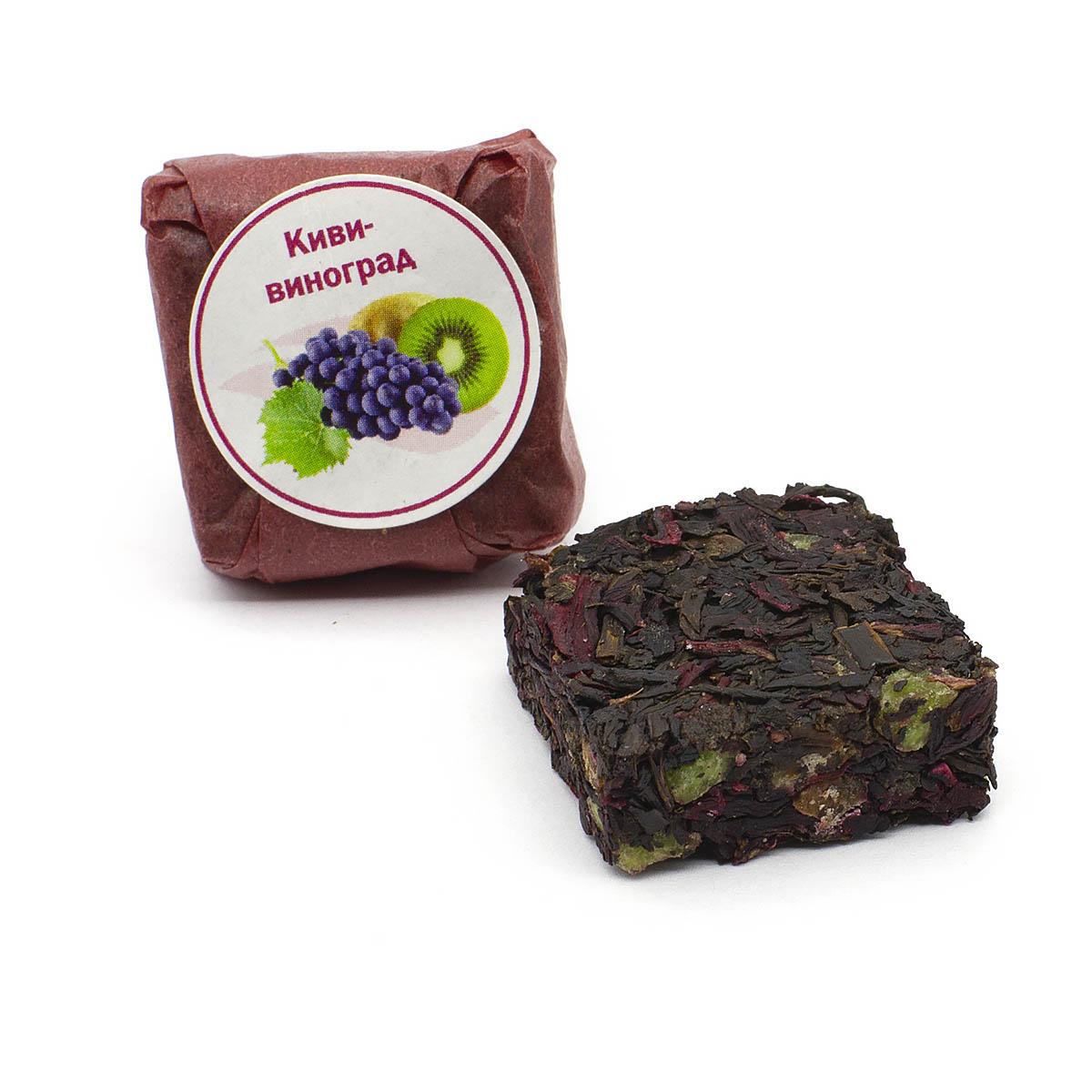 Чай фруктово-ягодный Киви-виноград, кубик 5-7 г