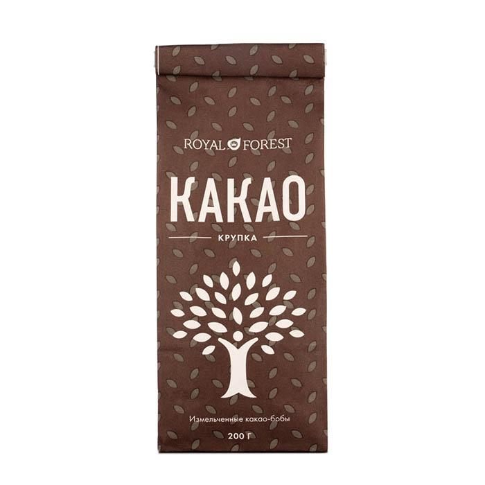 Какао-крупка (натуральная, слабообжаренная), 200 г