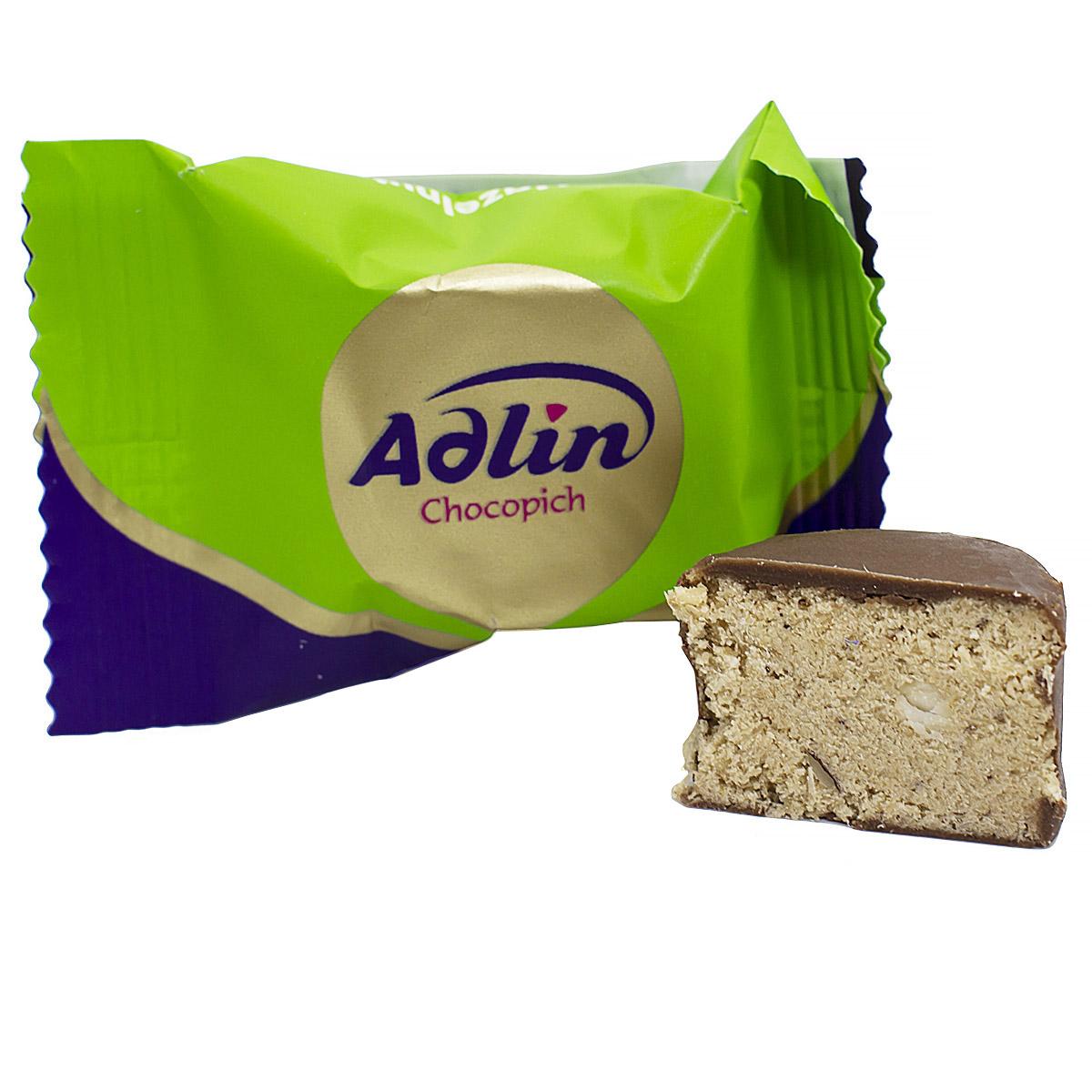 Конфеты из пашмалы с фундуком в шоколадной глазури Adlin, весовые