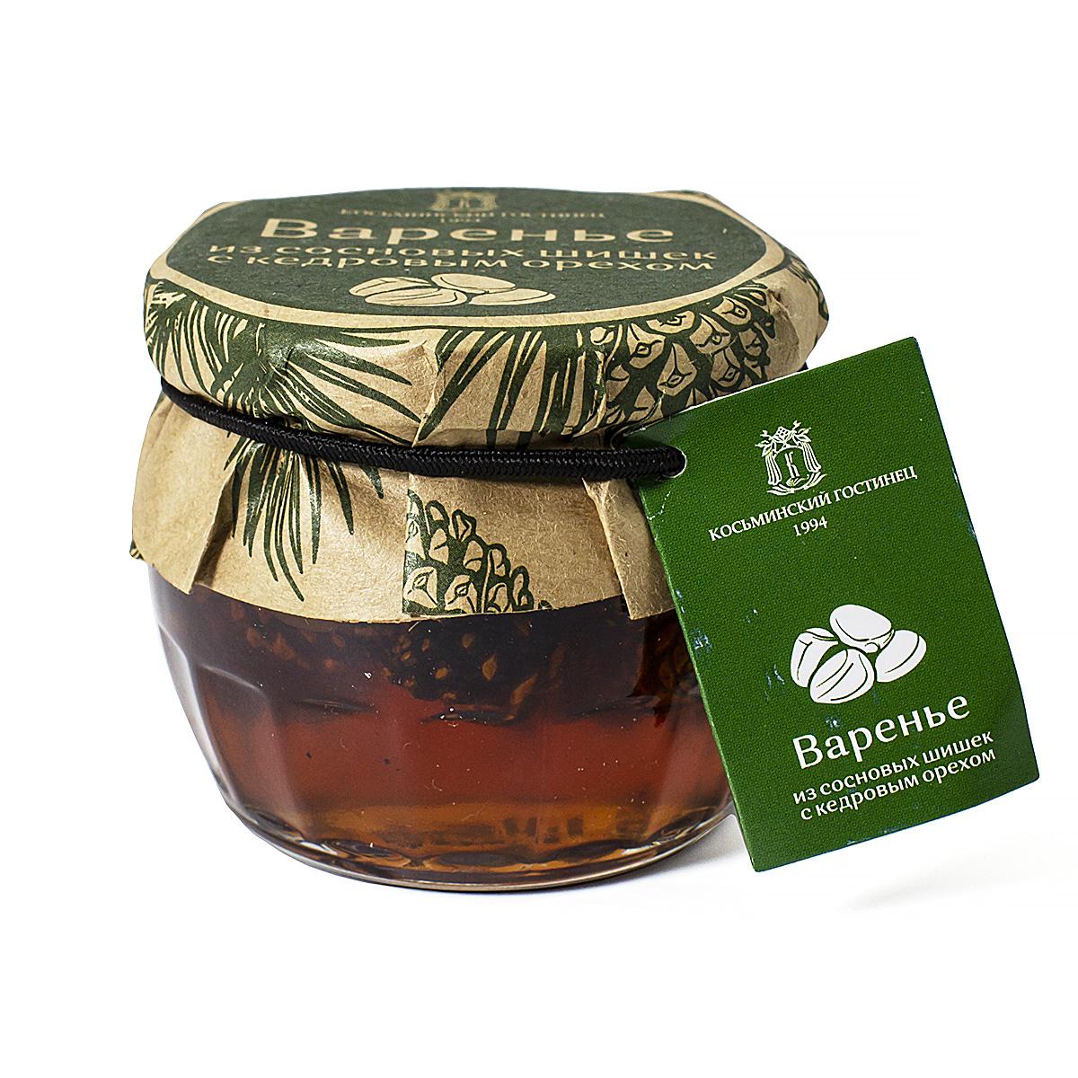Варенье из сосновых шишек с кедровым орехом, 160 г