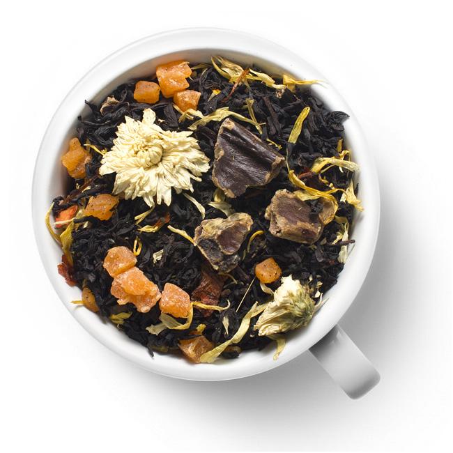 Черный ароматизированный чай Улыбка гейши
