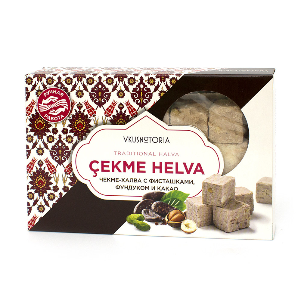 Купить со скидкой Чекме-халва с фисташками, фундуком и какао, 126 г