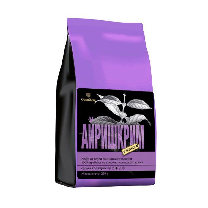 Кофе в зернах ароматизированный Айришкрим, уп. 250 г