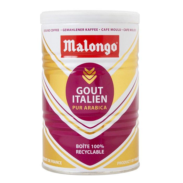 Кофе молотый Malongo Итальянский вкус, банка 250 г