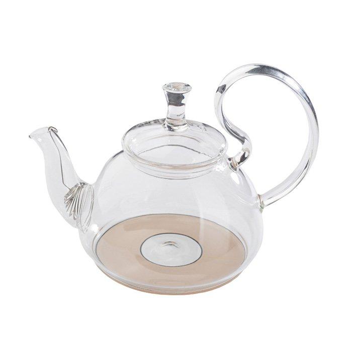 """Стеклянный заварочный чайник """"Георгин"""" для индукционных плит, 670 мл"""