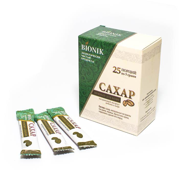 Сахар пряный для кофе в стиках (упаковка 25 шт. х 5 г)