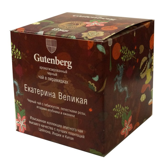 Пакетированный ароматизированный черный чай Екатерина Великая в пирамидках (12 шт.)