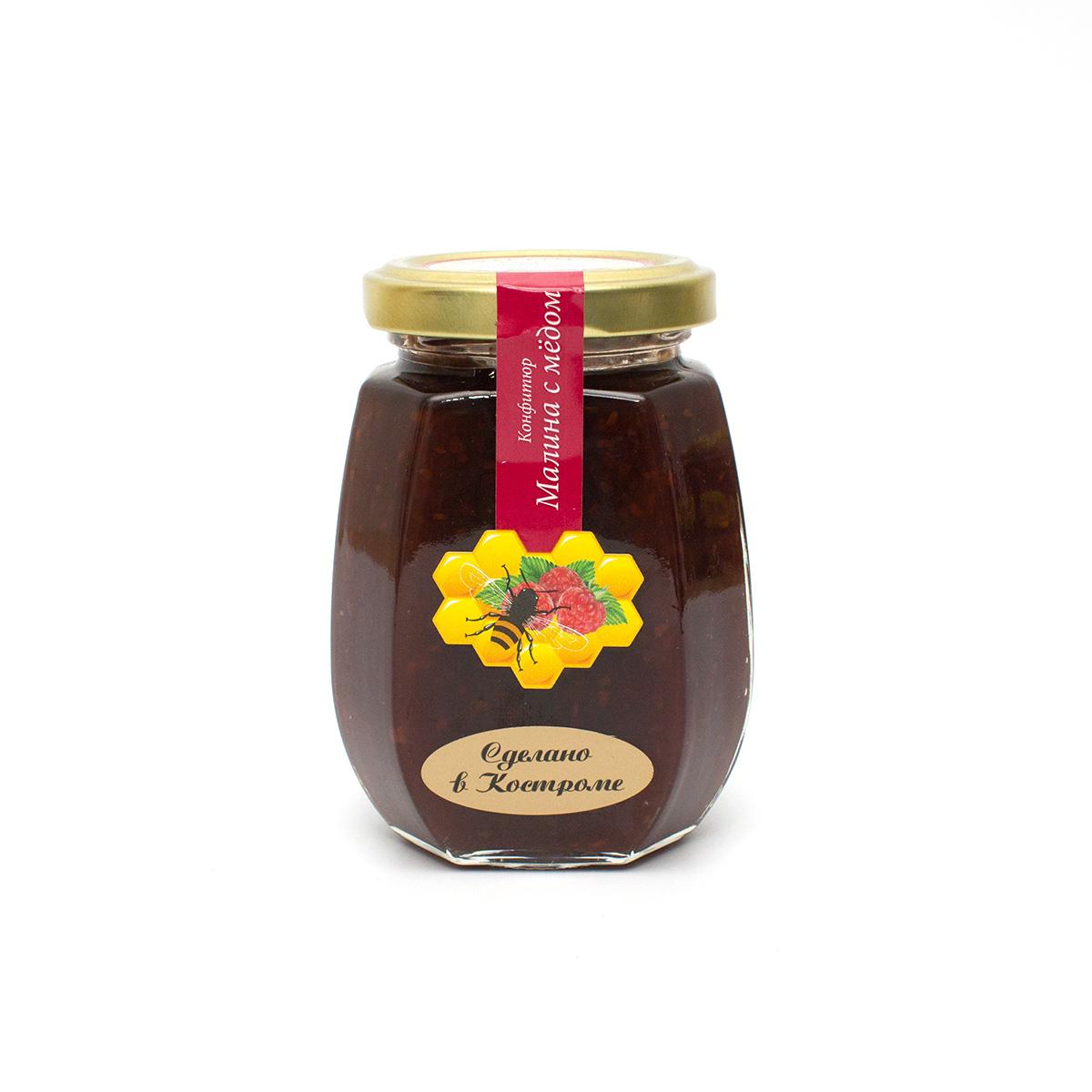 Купить со скидкой Конфитюр Малина с медом, 220 г