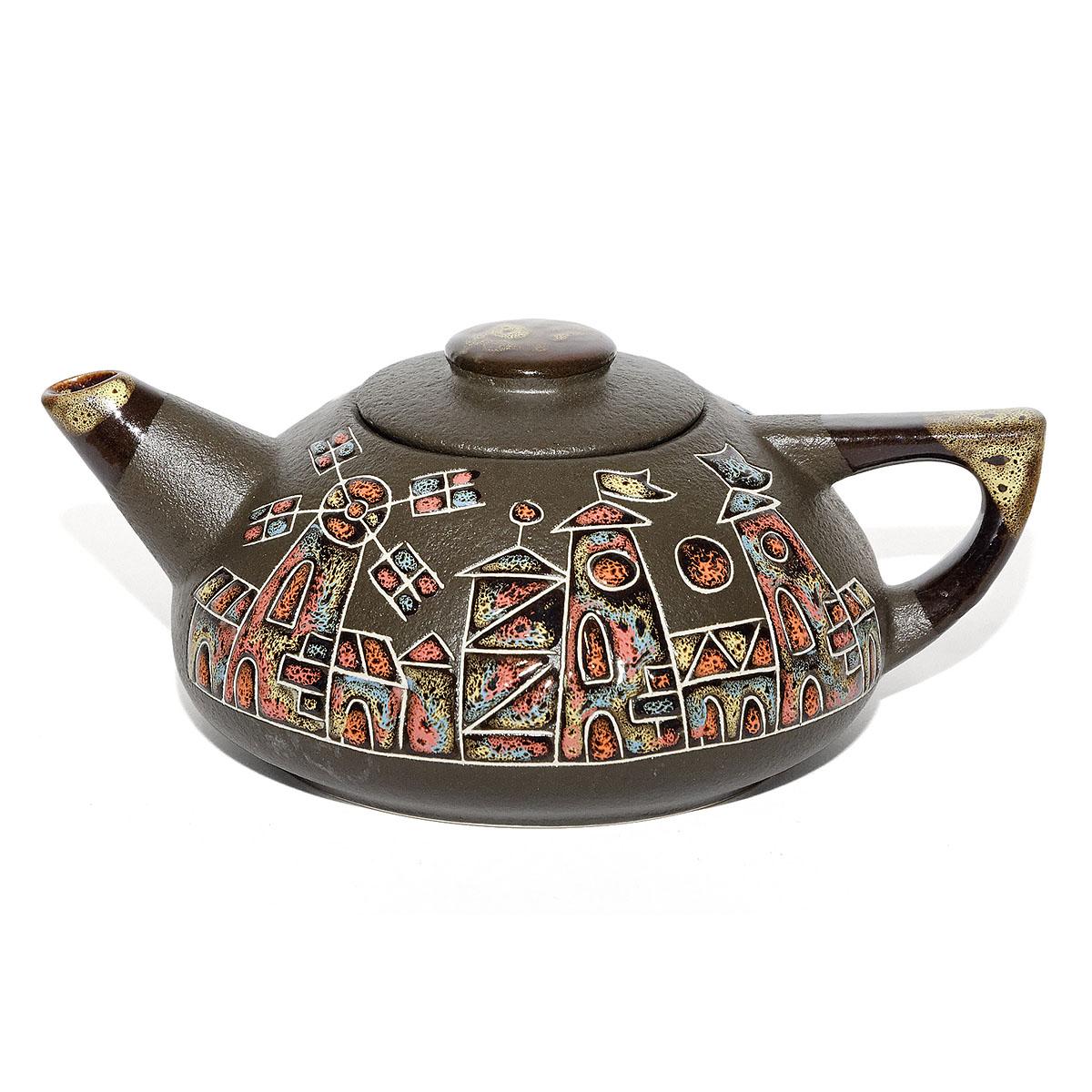 "Чайник глиняный ""Город"", 750 мл"